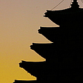 The Pagoda At Gyeongbukgong In Seoul Print by Photography by Simon Bond