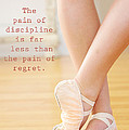 The Pain of Discipline Poster by Kim Fearheiley