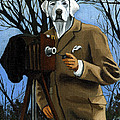 The Photographer - dog portrait Poster by Linda Apple