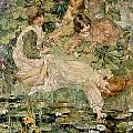 The Pool Print by Edward Atkinson Hornel