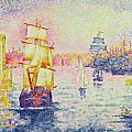 The Port of Marseilles Print by Henri-Edmond Cross