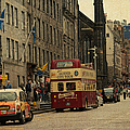 The Princes Street in Edinburgh. Scotland Poster by Jenny Rainbow