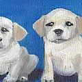 The Pups 2 Print by Roger Wedegis