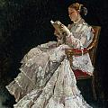 The Reader Print by Alfred Emile Stevens