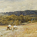 The Reapers Poster by Helen Allingham
