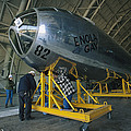 The Reassembled Enola Gay At Its New Poster by O. Louis Mazzatenta