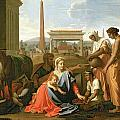 The Rest on the Flight into Egypt Poster by Nicolas Poussin