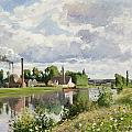 The River Oise near Pontoise Print by Camille Pissarro