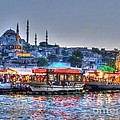 The Riverboats of Istanbul Print by Michael Garyet