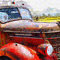 The Rusty Old Jalopy . 7D15509 Print by Wingsdomain Art and Photography