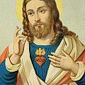 The Sacred Heart Poster by French School