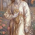 The Salutation  Poster by Dante Charles Gabriel Rossetti