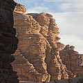 The Sandstone Cliffs Of The Wadi Rum Print by Taylor S. Kennedy