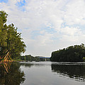 The Schuylkill River at West Conshohocken Print by Bill Cannon