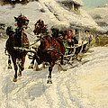 The Sleigh Ride Print by JFJ Vesin