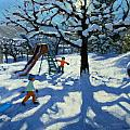 The slide in winter Print by Andrew Macara