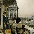 The Terrace of the Trafalgar Tavern Greenwich Print by James Jacques Joseph Tissot