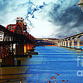 The Three Benicia-Martinez Bridges . A Journey Through Time Poster by Wingsdomain Art and Photography