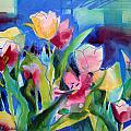 The Tulips Bed Rock Print by Kathy Braud