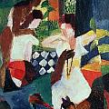 The Turkish Jeweller  Poster by August Macke
