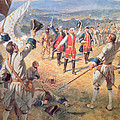 The Victory of Montcalms Troops at Carillon Print by Henry Alexander Ogden