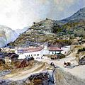 The Village of Angangueo Poster by Thomas Moran