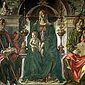 The Virgin and Saints Poster by Francesco del Cossa