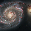 The Whirlpool Galaxy M51 And Companion Poster by Stocktrek Images