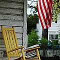 The Yellow Rocking Chair Poster by AdSpice Studios
