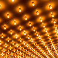 Theater Marquee Lights in Rows Print by Paul Velgos