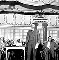 Theodore Roosevelt Speaking At National Poster by Everett