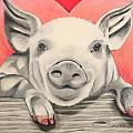 This little piggy... Poster by Michelle Hayden-Marsan