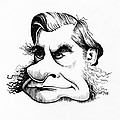 Thomas Huxley, Caricature Poster by Gary Brown