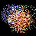 THREE BURSTS OF FIREWORKS FOUR JULY TWO K TEN Print by Carl Deaville