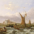 Tilbury Fort - Wind Against the Tide Poster by William Clarkson Stanfield