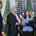 Timothy Geithner Sworn-in As Secretary Poster by Everett