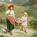 To Market To Buy a Fat Pig Print by Edwin Thomas Roberts