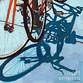 Together - city bikes Print by Linda Apple