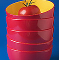 Tomato In Stacked Bowls Poster by Garry Gay