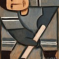 Tommervik Cubism Hockey Player Print by Tommervik