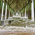 Topsail Island Pier Poster by Betsy A  Cutler