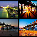 Topsail Piers at Sunrise Poster by Betsy A  Cutler
