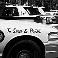 toronto police squad cars outside police station in downtown toronto ontario canada Poster by Joe Fox