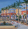 Town Center Abacoa Jupiter Print by Marilyn Dunlap