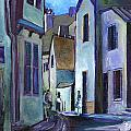 Town in Italy Print by Carol Mangano