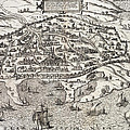 Town map of Alexandria in Egypt Print by Unknown