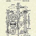 Traffic Signal 1922 Patent Art Poster by Prior Art Design