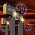 Traffic Speed Cameras Print by Victor Habbick Visions