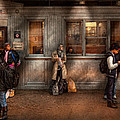 Train - Station - Waiting for the next train Poster by Mike Savad