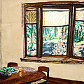 Tranquility 5 Cabin in the Woods Print by Drina Fried